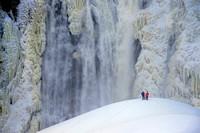 Chute Montmorency en hiver